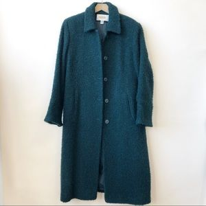 Talbots Petites Emerald Green Wool Coat Size 12